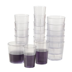 5 oz. Clear Stackable Tumbler - Set of 12