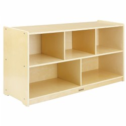 "Carolina 24"" 5-Compartment Storage Unit - Solid Back"