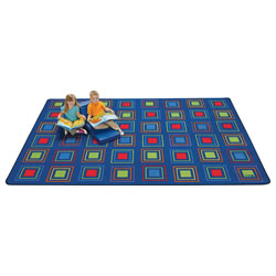 Primary Squares Carpet