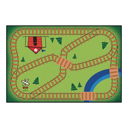Railroad Playtime KID$ Value Rug - 3' x 4'6""