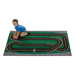 Super Speedway Racetrack KID$ Value Rugs