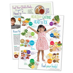 Preschool Healthy Eating from Head to Toe Handouts (Set of 50)