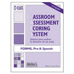 CLASS® Score Sheets, PreK Forms (Set of 10) - Spanish