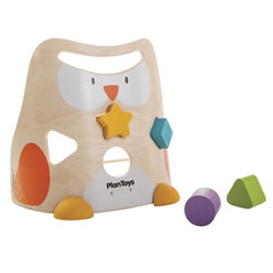 Toddler Wooden Shapes and Colors Owl Sorter