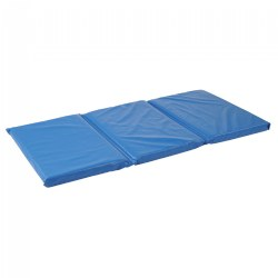 "High-quality, flame-retardant vinyl cover. Folds for storage. Non allergenic polyurethane foam. Measures 45""L x 22""W x 2"" thick."