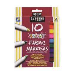10-Count Bright Fabric Markers (Single Box)