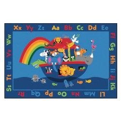 Noah's Alphabet Animals KID$ Value PLUS Rug - 6' x 9'