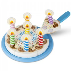 Wooden Birthday Party Cake Set
