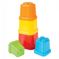 5 Piece Colorful Toddler Stacking Tower