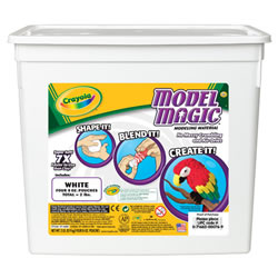 This modeling compound is clean, pliable, and air-dries to a firm resiliency in 24 hours! It's soft, lightweight, and extra easy to mold.  This container has 2 pounds of white compound. Made in the USA.