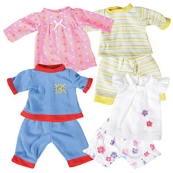 "13"" Doll Pajamas"