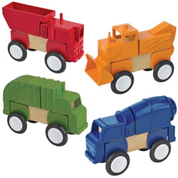 Block Mates Construction Vehicles Themed Exploration Set