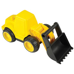 Heavy Duty Construction Vehicle with Movable Front Loader