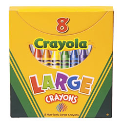 Large 8-Count Crayola® Crayons (Single Box)