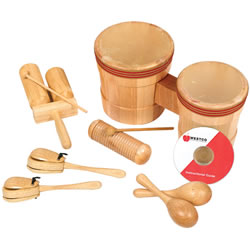 Jr. Latin American Rhythm Wooden Instruments Kit