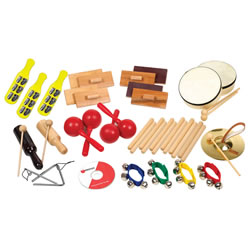 25-Player Rhythm Band Kit with 10 Different Musical Instruments
