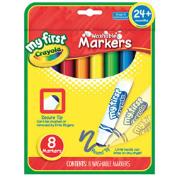 Crayola® My First Round Tip 8-Count Markers (6 Boxes)