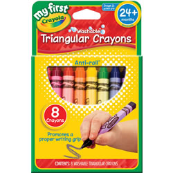 Crayola® My First Triangular 8-Count Crayons (Single Box)