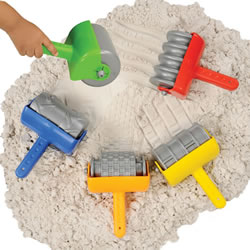 Jumbo Textured Sand Rollers With Toddler Hand Grip and 5 Different Patterns