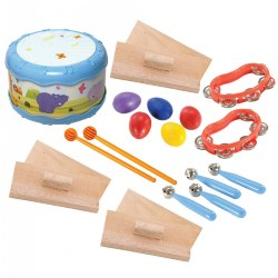 Toddler Rhythm Band Set of 5 Different Instruments