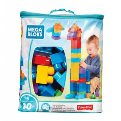 Mega Bloks Big Building Bag Classic Colors - 80 piece