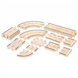 Wooden Roadway Track System