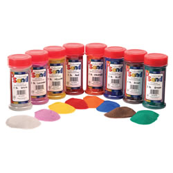 Colored Sand Bottles - Set of 8 Different Colors
