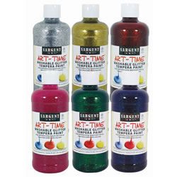 Washable Glitter Tempera (Set of 6)