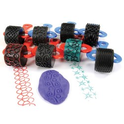 Jumbo Paint and Clay Explorer Rollers - Set of 8