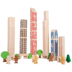 Big City Building Blocks - Set of 36