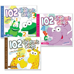 102 Children's Songs - Set of 3
