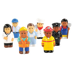 "Community Workers 3"" Tall - Set of 8"