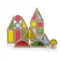 Junior Rainbow Blocks® Colorful Stacking Blocks - 40 Pieces
