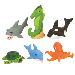 Soft and Squeezable Aquatic Animal Playset