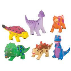 Soft and Squeezable Dinosaur Playset