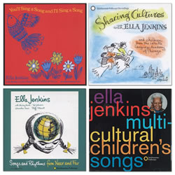 Singing Songs Near and Far with Ella Jenkins (Set of 4)