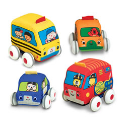 Pull Back Vehicles - Set of 4