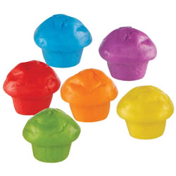 3 years & up. Assorted mini muffin counters in six fun colors. Includes 60 counters and activity guide.