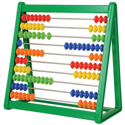 3 years & up. Ten colorful beads slide on 10  metal rods in a plastic frame. The perfect math tool to develop number concepts and computation skills.