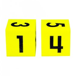 Foam Number Dice - Set of 2