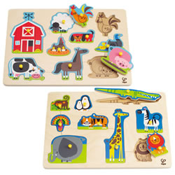 Animals Themed Peg Puzzle Set (Set of 2)