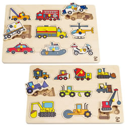 Working Vehicles Themed Puzzle Set (Set of 2)