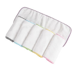 Terry Burp Cloths (Set of 6)