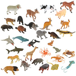 Wildlife Animals Collection - Set of 32