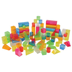 Transparent Light and Color Blocks (108 Pieces)
