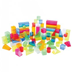 Transparent Light and Color Blocks - 108 Pieces