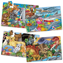 Fun Facts Jumbo Floor Puzzles (Set of 4)