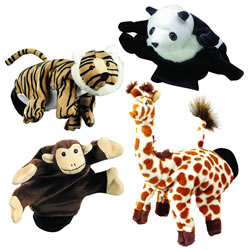 Wild Animals Glove Puppet Set (Set of 4)