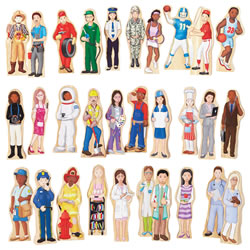 Wooden Wedgie Career People - Set of 30