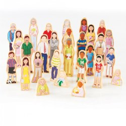 Wooden Wedgie Families - Set of 28
